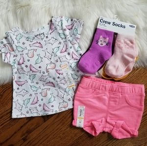 NEW baby girl 12 month summer spring lot bundle
